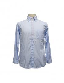 Camicia Morikage Shirt Kyoto azzurra E-071028-4 BLUE