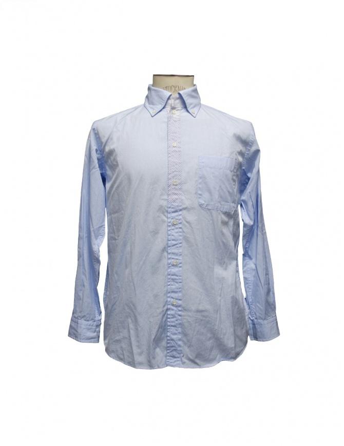 Camicia Morikage Shirt Kyoto azzurra E-071028-4 BLUE camicie uomo online shopping