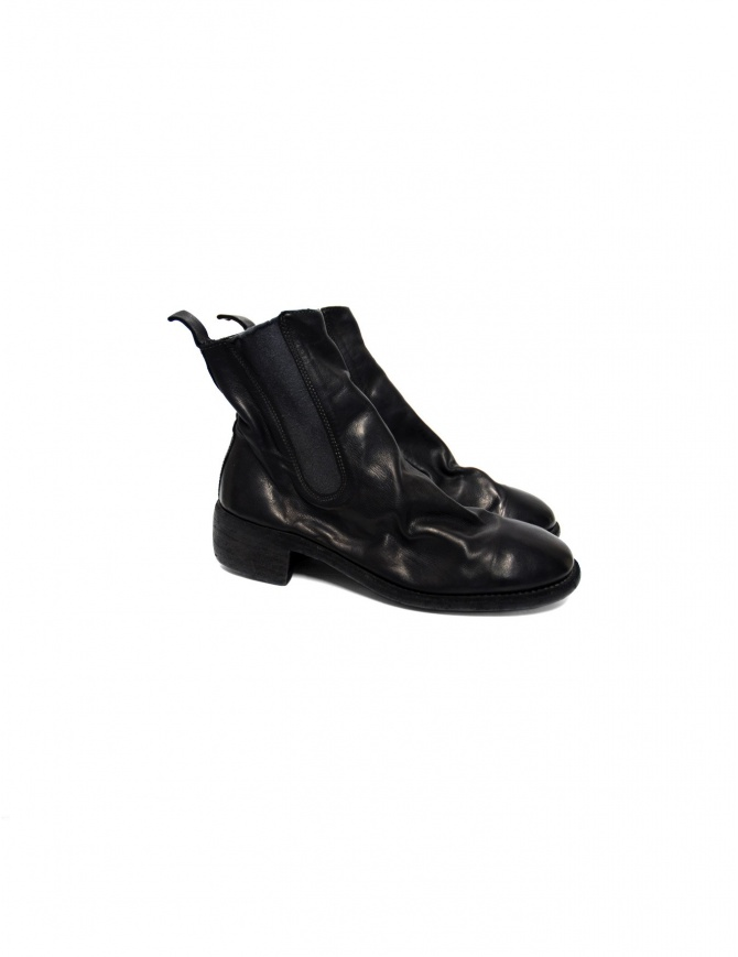 Black leather Guidi 76 boots 76-BLKT womens shoes online shopping