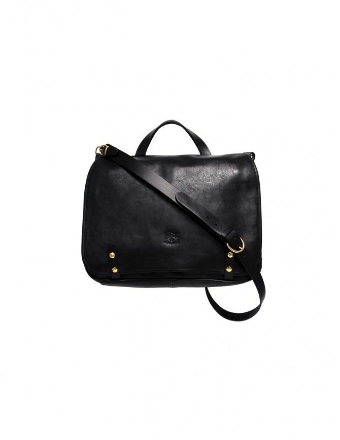 Cartella Il Bisonte Vincent in pelle nera D305 P 153 borse online shopping