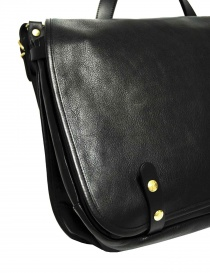 Il Bisonte Vincent black leather briefcase