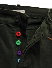 Homecore Alex Twill green pants with colored buttons