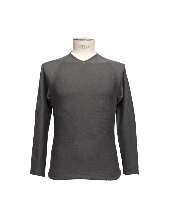 Label Under Construction Flat Seams gray pullover 25YMSW76 CO131 25/59 mens knitwear online shopping