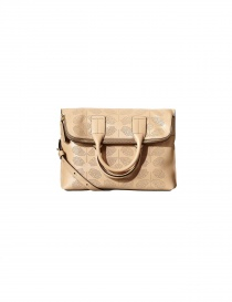Orla Kiely Beige Flat and Perforated Hide Bag online