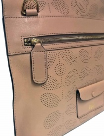 Orla Kiely Beige Flat and Perforated Hide Bag