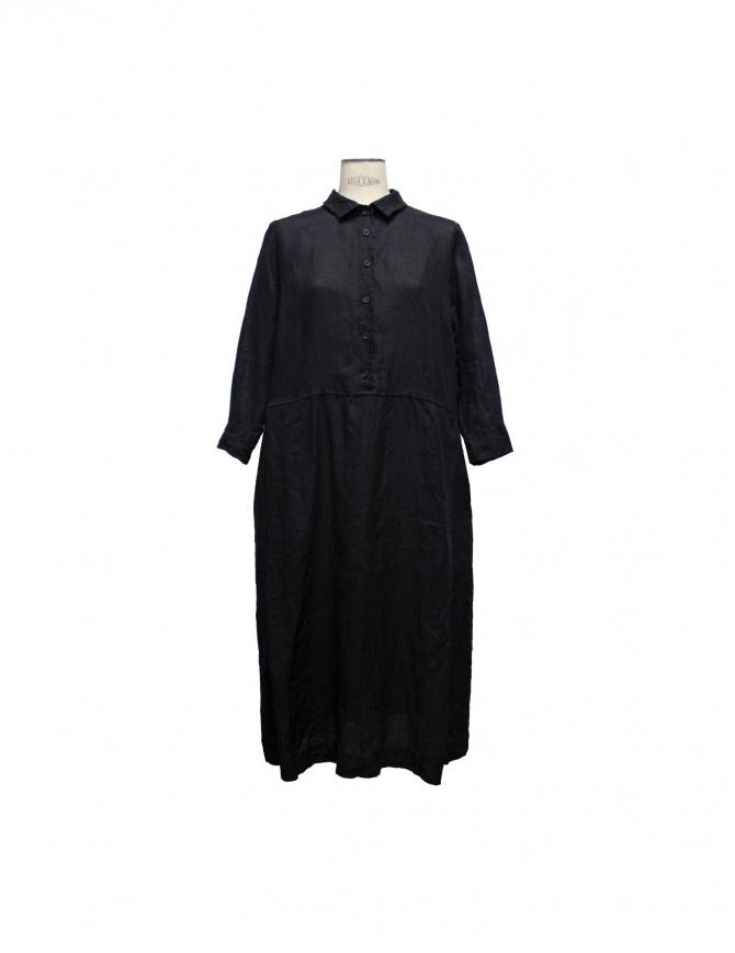 Abito Casey Casey in lino colore nero 04FR54-BLK abiti donna online shopping