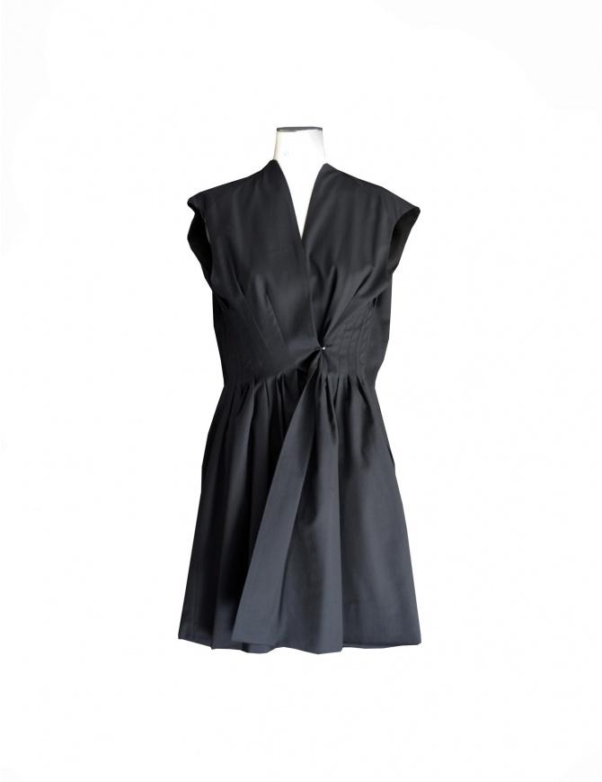 Gustavo Lins black wool short dress 14FR02 FOX.1 womens dresses online shopping