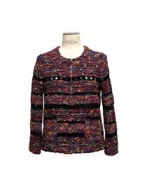Maglia Coohem in tessuto Yonetomi colore viola e nero online