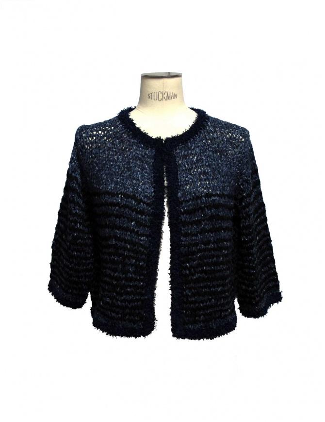 Maglia Iaponia colore blu e nero 15S05F-NAVY- maglieria donna online shopping