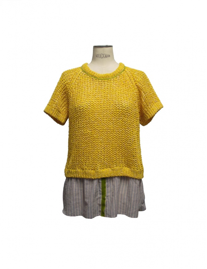Iaponia yellow pullover 15S26S-YELLO womens knitwear online shopping