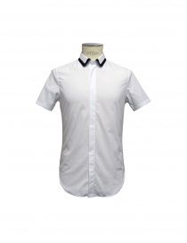 SHIRT CY CHOI short sleeves with knitted collar CA55502AWH00 WHITE