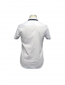 SHIRT CY CHOI short sleeves with knitted collar buy online