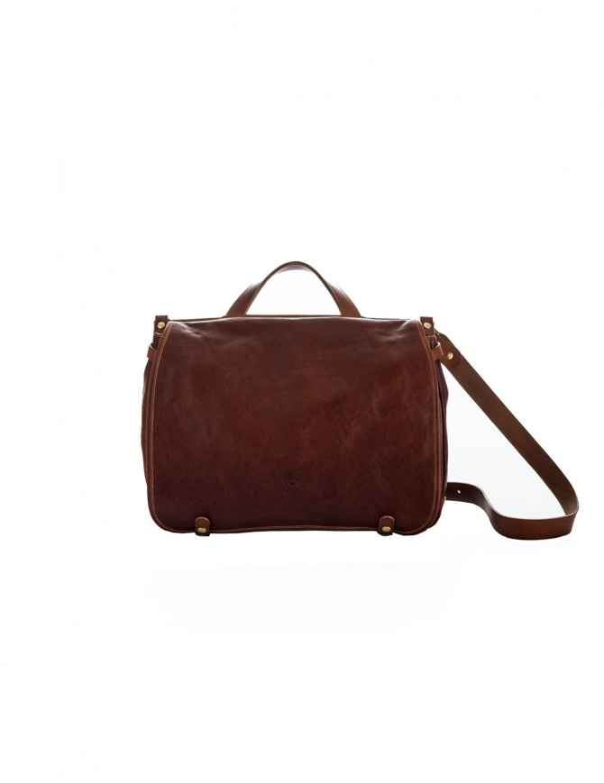 Il Bisonte Vincent Brown Leather Briefcase D305 PO 567 bags online shopping