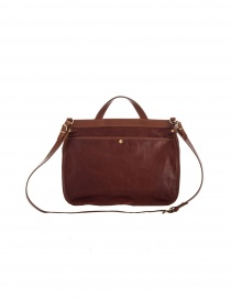 IL BISONTE VINCENT BROWN LEATHER BRIEFCASE