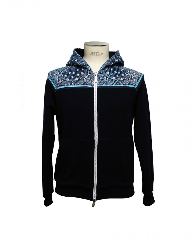 Felpa Yoshio Kubo colore blu YKS15807 NAV maglieria uomo online shopping