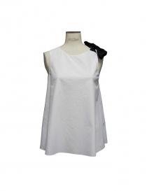 Sara Lanzi white top black ribbon online
