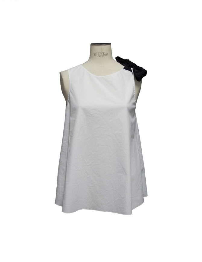 Top Sara Lanzi colore bianco TA1 CO01 A/1 canotte donna online shopping