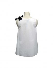 Sara Lanzi white top black ribbon