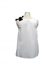 Sara Lanzi white top black ribbon buy online