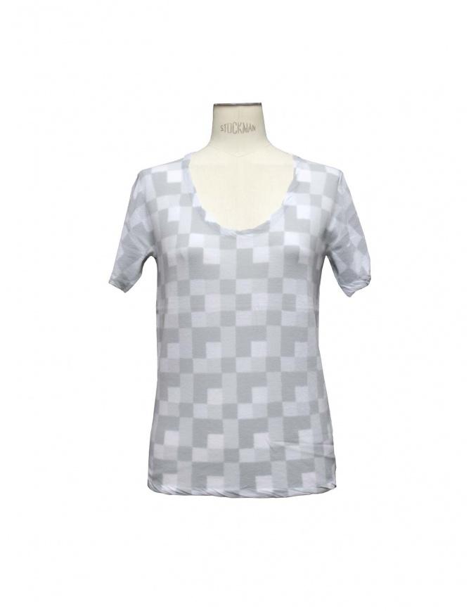 MAGLIA SIDE SLOPE grigio chiaro L002 11LT GREY t shirt donna online shopping