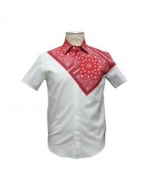 Camicia Yoshio Kubo colore rosso e bianco online
