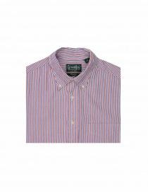 Camicia Gitman Bros a righe rosse e blu prezzo
