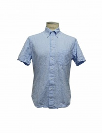 Gitman Bros light blue stripes shirt gu21m406 42