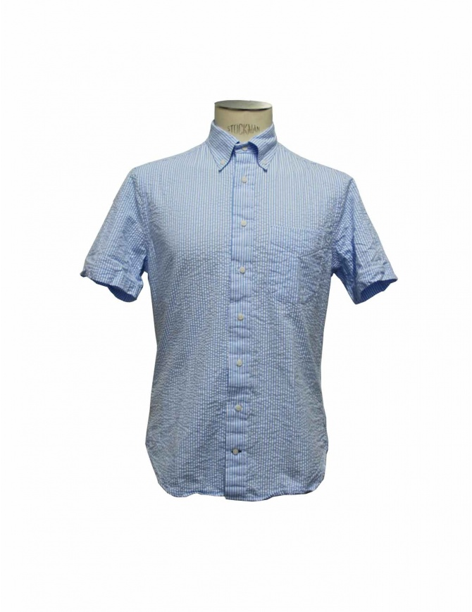 Camicia Gitman Bros a righe azzurre gu21m406 42 camicie uomo online shopping
