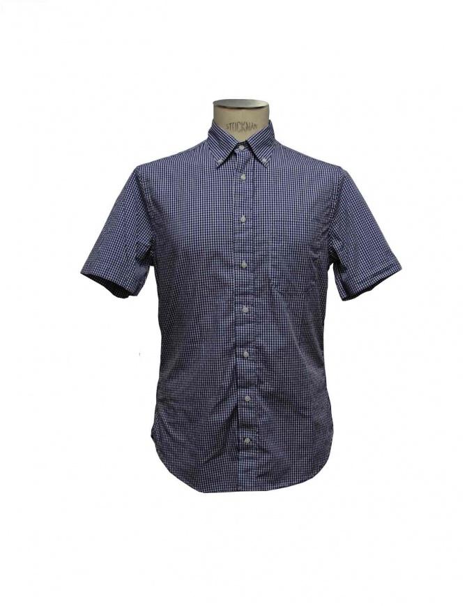 Gitman Bros blue checked shirt GV21 M407 41 mens shirts online shopping