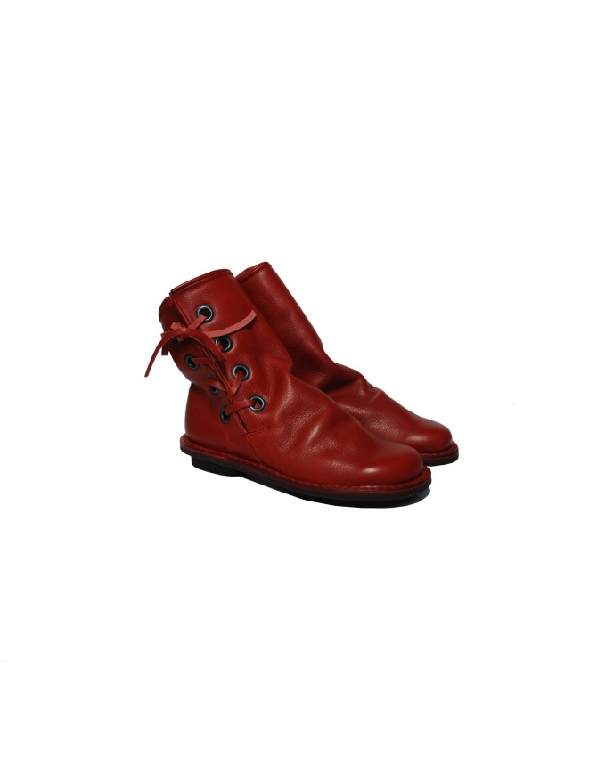Trippen Tramp red ankle boots tramp red womens shoes online shopping