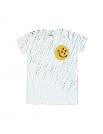 T-SHIRT KAPITAL con stampa Smile K1504SC16 WHITE