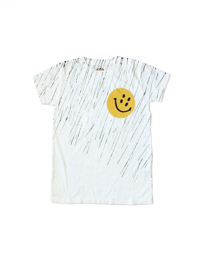 T-SHIRT KAPITAL con stampa Smile K1504SC16 WHITE t shirt uomo online shopping