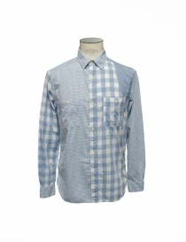 Camicia patchwork Nigel Cabourn 11001-SKY-BL order online
