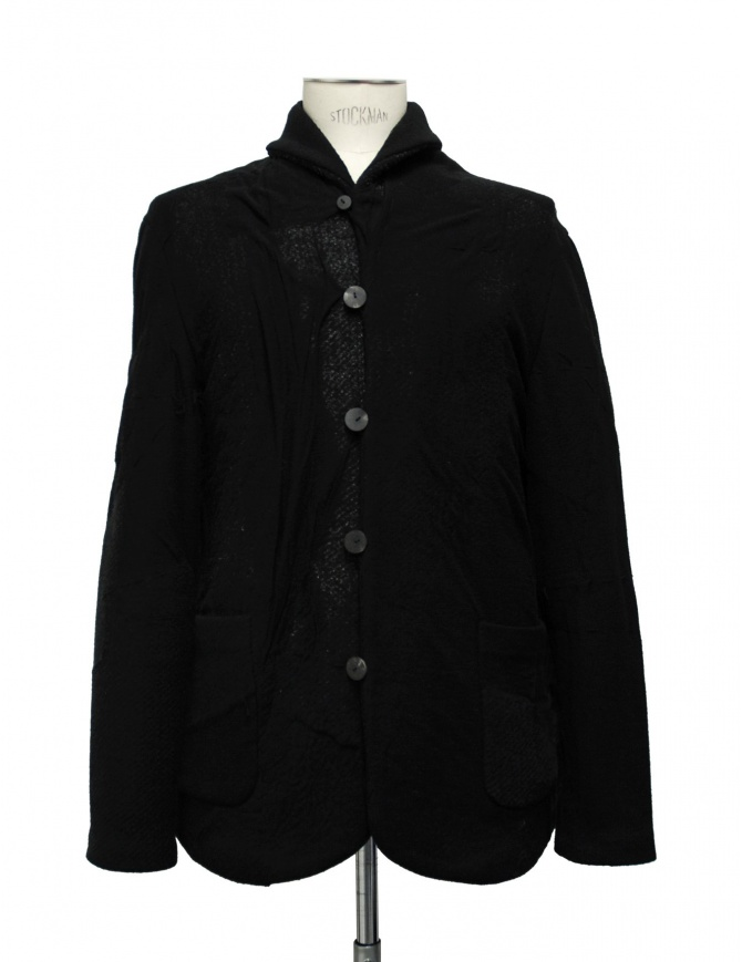 Label Under Construction Scarf Collar Recycled Knit jacket 16FMJC34 WC1 mens coats online shopping
