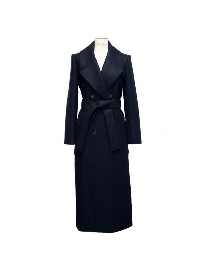CAPPOTTO NERO CARVEN 120m07 999 cappotti donna online shopping