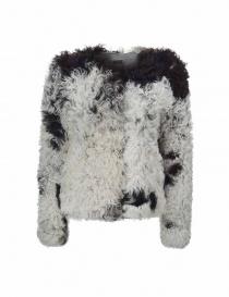 Giacca Utzon in pelliccia di agnello bianca e nera 52156-MON-SP order online