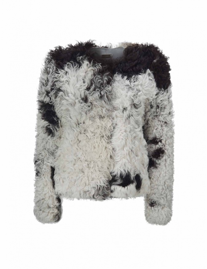 Giacca Utzon in pelliccia di agnello 52156-MON-SP giacche donna online shopping