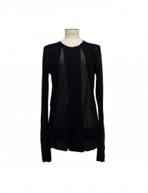 Julius black tencel cashmere pullover 17CUM2-BLK order online