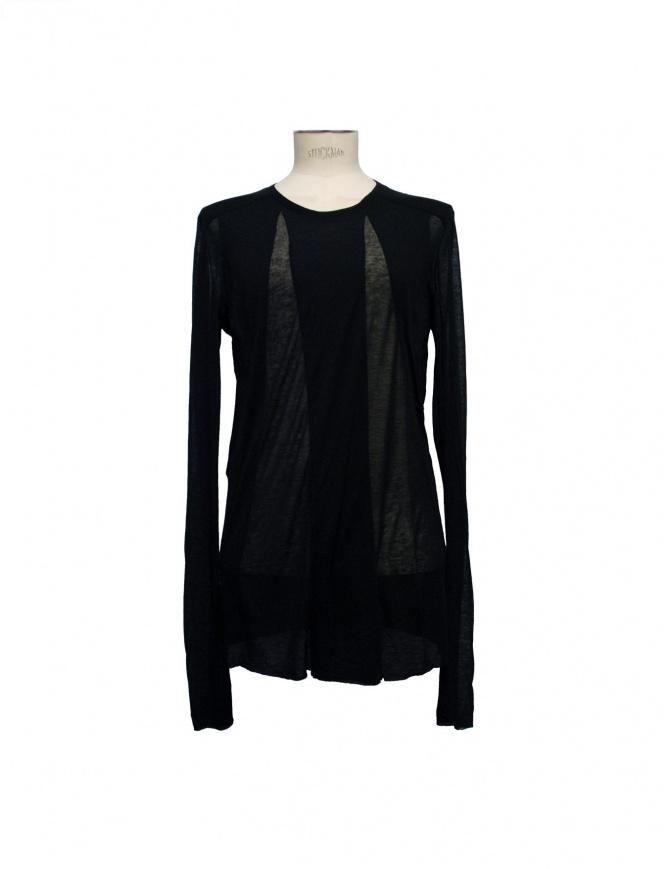 Julius black tencel cashmere pullover 17CUM2-BLK mens knitwear online shopping