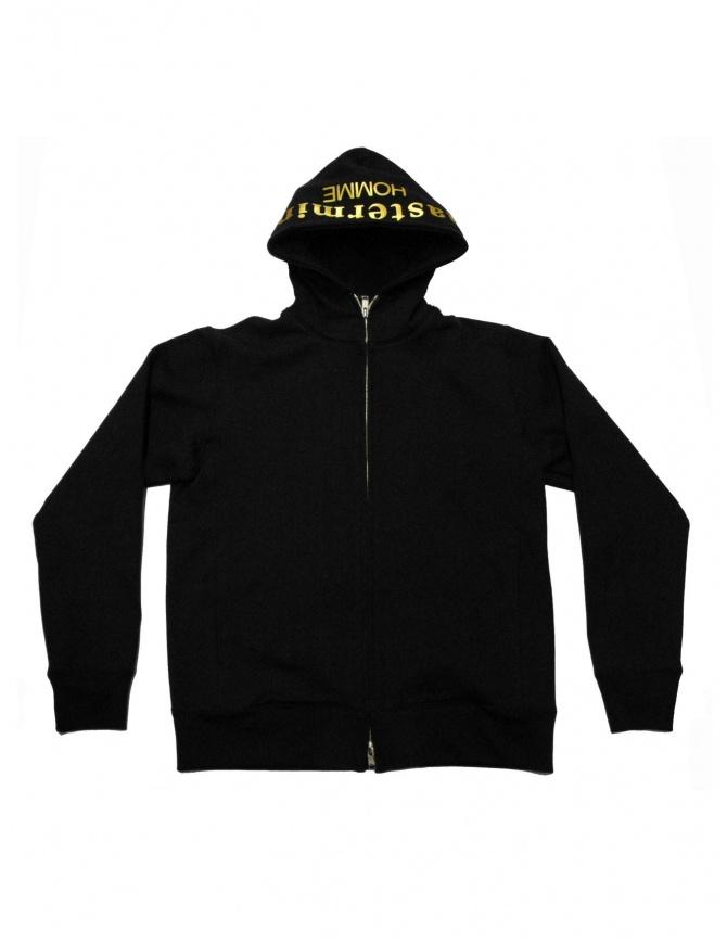 Felpa nera Mastermind X A-Girl's con zip SW88-05-BLK maglieria uomo online shopping