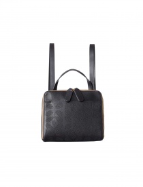 Backpack Bag Orla Kiely Black Leather 15ABSS196 BLK order online