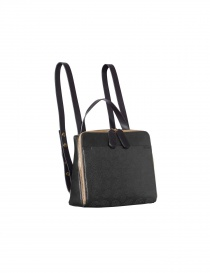 Backpack Bag Orla Kiely Black Leather
