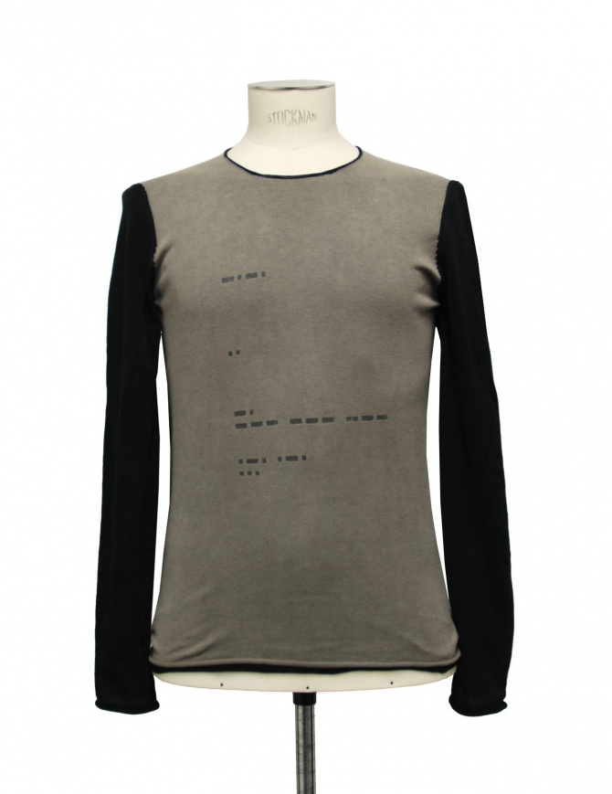 Label Under Construction Corroded Graphite Dyed pullover 16YMTS141-01 mens knitwear online shopping