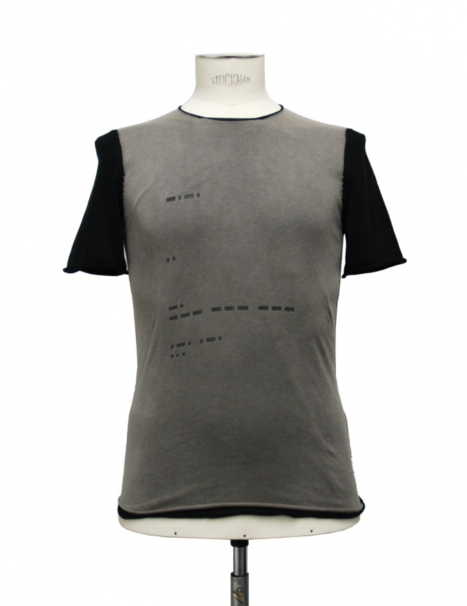 T-shirt Label Under Construction Signals beige nera 16YMTS140-019-4 t shirt uomo online shopping