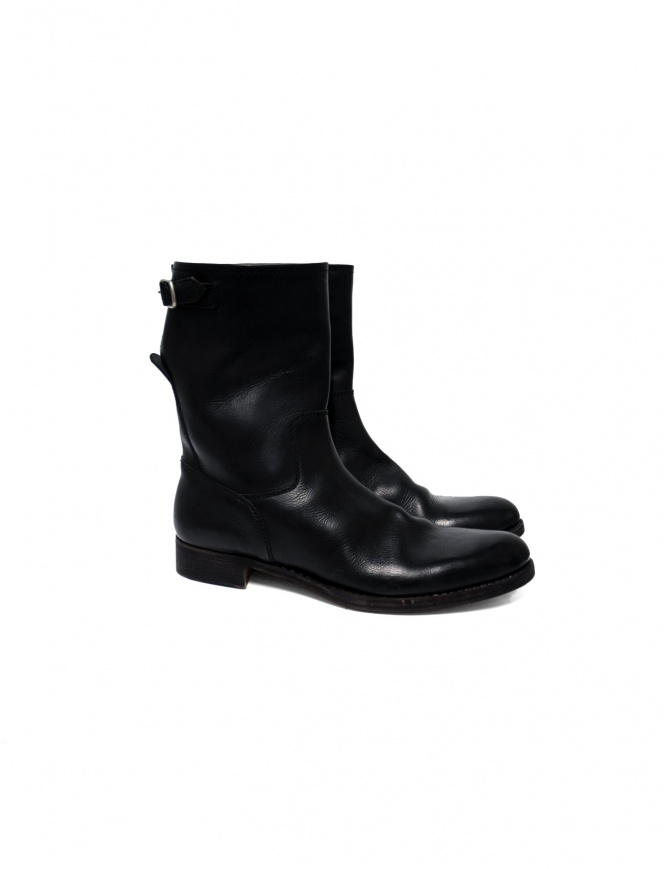 Black leather Sak leather boots 043 BLK CALF FIORE mens shoes online shopping