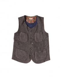 Womens vests online: KAPITAL GILET brown