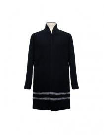 Mens coats online: Cy Choi black coat