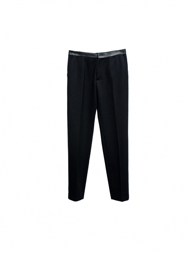Cy Choi Hand Printed black trousers N408-BLK mens trousers online shopping