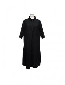 Casey Casey black wool dress Mandarin collar online