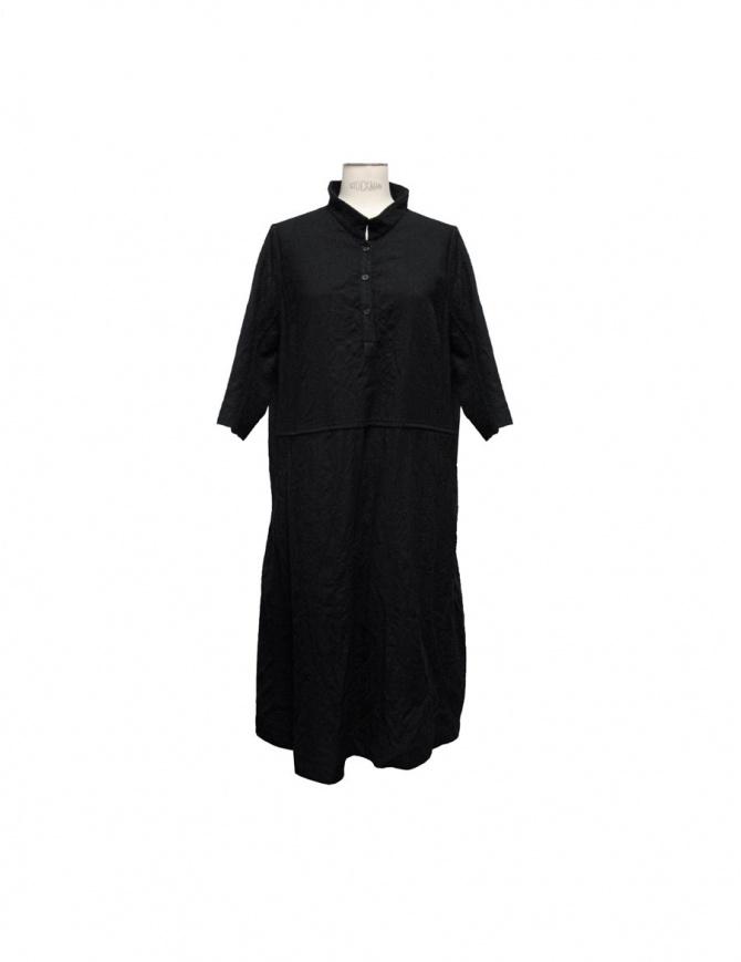 Casey Casey black wool dress Mandarin collar 05FR79F-BLK womens dresses online shopping